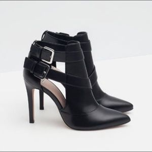Zara Trafaluc Pointed Toe Ankle Booties
